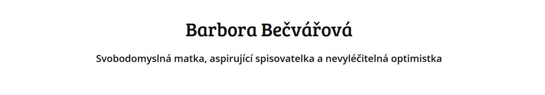 Barbora Bečvářová